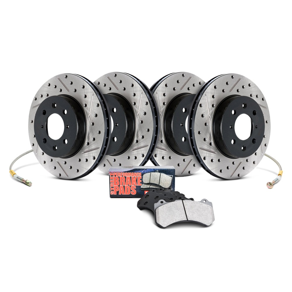 Sentra Spec-V Sport Front / Rear Drilled / Slotted Rotor Set