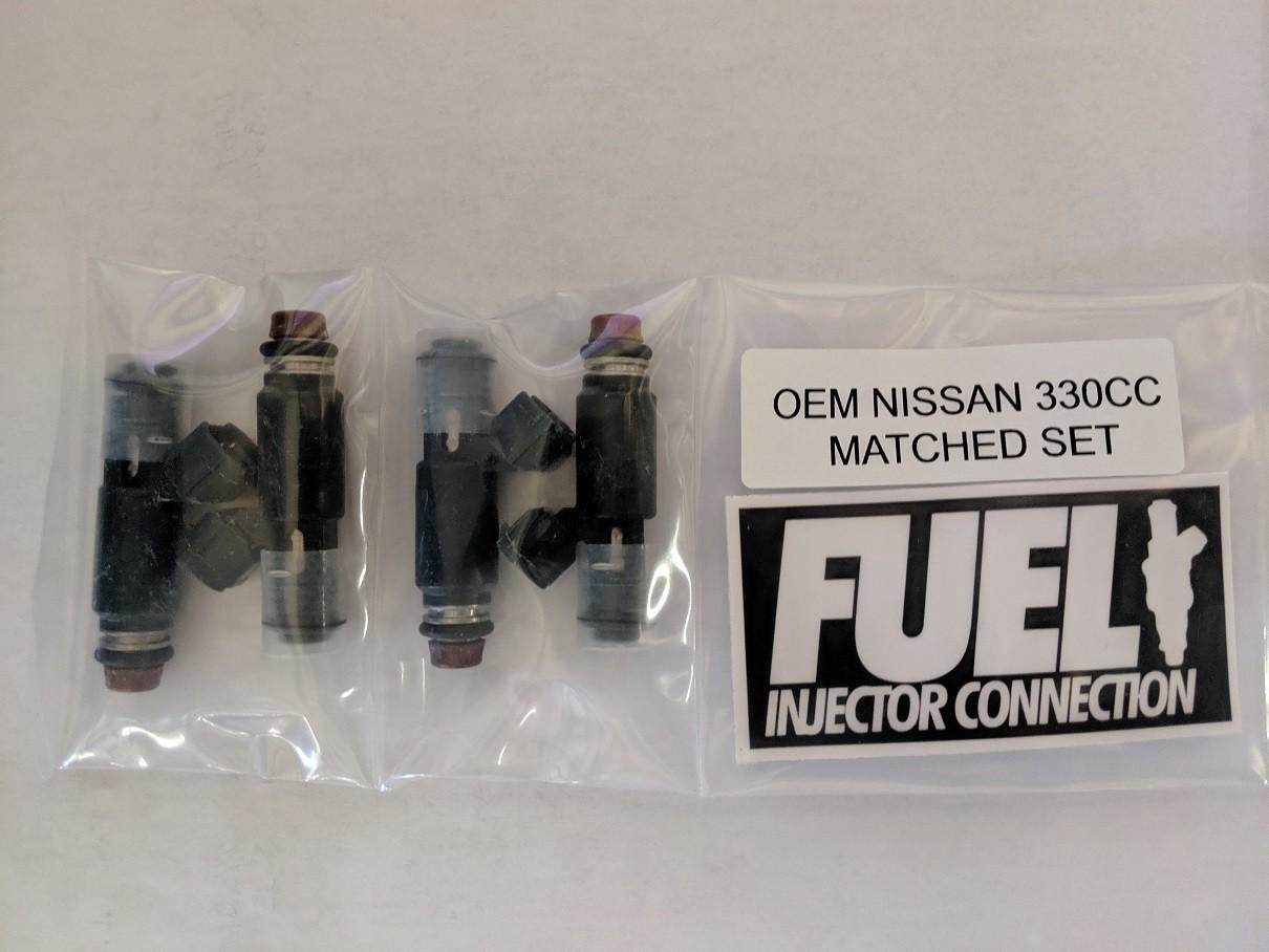 B15/B16 2.5L 330cc Nissan OEM Fuel Injector Set (4)
