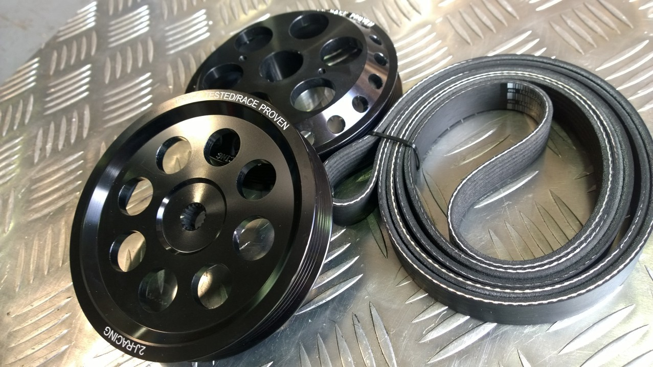 Sentra Spec-V Pulley Combo Set!  Includes Long  Belt - Crank and PS (02-06 QR25s)