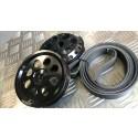 Sentra Spec-V Pulley Combo Set!  Includes Long  Belt - Crank and PS (02-06 QR25s)