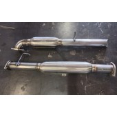"Limited Ed  -  B15 Stainless Twin Resonated 2.5"" V3 Side Exit"
