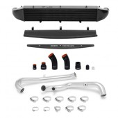 Mishimoto 2014-Current Ford Fiesta ST 1.6L Front Mount Intercooler (Black) Kit w/ Pipes (Silver)