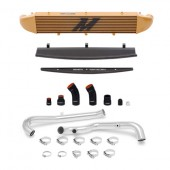Mishimoto 2014-Current Ford Fiesta ST 1.6L Front Mount Intercooler (Gold) Kit w/ Pipes (Silver)